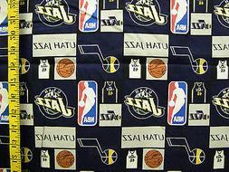 NBA UTAH JAZZ PATCH  100% COTTON  FABRIC  34X43 INCHES