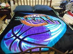 "NBA UTAH JAZZ Royal Plush SOFT Raschel Blanket Throw 50"" X 6"