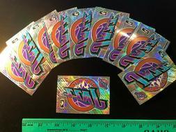 NEW 10 count Utah Jazz 5 Piece Prismatic Sticker Sheet - 2.2