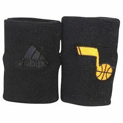 New! ADIDAS NBA Utah Jazz Black Wristbands Sweat Basketball