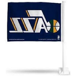 NEW NBA UTAH JAZZ 11X14 WINDOW MOUNT 2-SIDED CAR FLAG