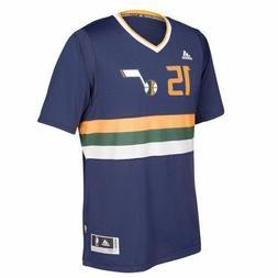 NEW! Utah Jazz DEREK FAVORS Polyester Jersey T Shirt Adidas
