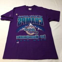 NEW Vtg 90s OG Pro Player 1997 Utah Jazz NBA Finals T Shirt