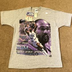 NEW Vtg 90s OG Pro Player Karl Malone 1996 1997 NBA MVP Utah