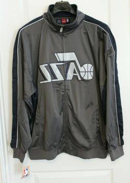 NWT Utah Jazz NBA Gray L/S Performance Full Zip Track Jacket