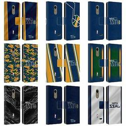OFFICIAL NBA UTAH JAZZ LEATHER BOOK WALLET CASE FOR LG PHONE