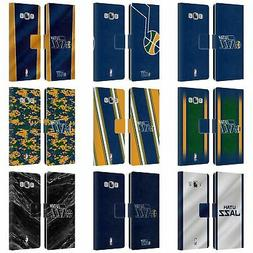OFFICIAL NBA UTAH JAZZ LEATHER BOOK WALLET CASE FOR SAMSUNG