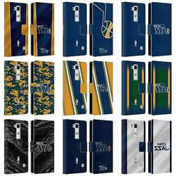 OFFICIAL NBA UTAH JAZZ LEATHER BOOK WALLET CASE COVER FOR LG