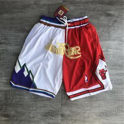 Pants '97 Chicago Bulls & Utah Jazz Basketball Game Shorts F