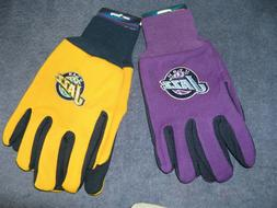 TWO  PAIR OF UTAH JAZZ, SPORT UTILITY GLOVES FROM FOREVER CO
