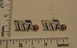 TWO Old 1989 Limited Edition NBA Basketball Pins - Utah Jazz