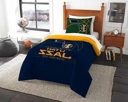 Utah Jazz - 2 Pc TWIN Size Printed Comforter/Sham Set