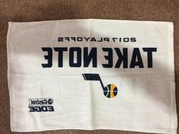 Utah Jazz 2017 Playoffs Take Note Rally Towel giveaway at th
