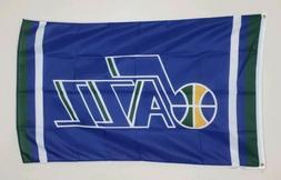 Utah Jazz Banner 3x5 Ft Flag Garage Shop Man Cave Wall Decor