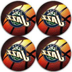 Utah Jazz Basketball Rubber Round Coaster set  / RNDRBRCSTR2