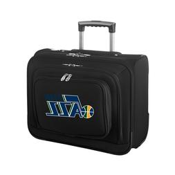 "Utah Jazz Black 14"" 2-Wheeled Laptop Overnighter Travel Case"