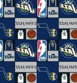 Utah Jazz Block NBA - 1/4 yard  100% Cotton Fabric