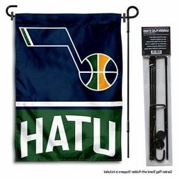 Utah Jazz Garden Flag and Yard Stand Included