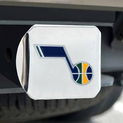 Utah Jazz Heavy Duty 3-D Color Emblem Chrome Metal Hitch Cov