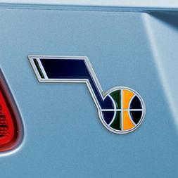Utah Jazz Heavy Duty Metal 3-D Color Auto Emblem