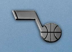 Utah Jazz Heavy Metal Auto Emblem  Chrome Car Decal Sticker