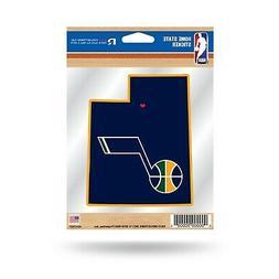 Utah Jazz Home State Sticker Flat Die Cut Decal Emblem Auto
