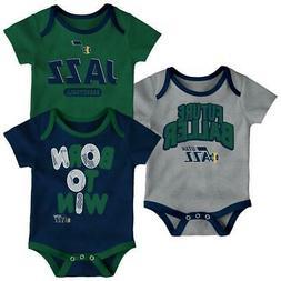 Utah Jazz Infant Creeper Set Lil Tailgater 3 Pack