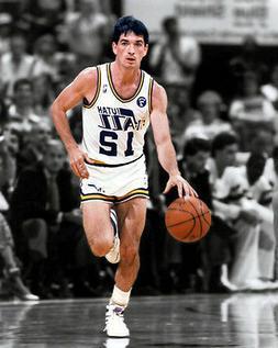 Utah Jazz JOHN STOCKTON Glossy 8x10 Photo Basketball Print S