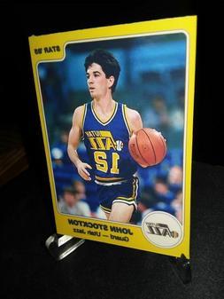 Utah Jazz John Stockton  RC  Custom Handmade Card 1985 style