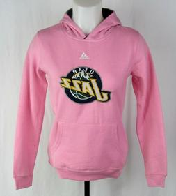 Utah Jazz Kid's Pink Pullover Adidas Hoodie NBA