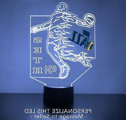 Utah Jazz Night Light, Personalized FREE, NBA Basketball LED