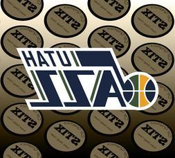 Utah Jazz Logo NBA Color Die Cut Vinyl Sticker Car Window Ho