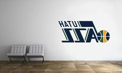 Utah Jazz Logo Wall Decal NBA Basketball Decor Sport Mural V