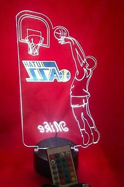 Utah Jazz NBA Basketball Player Light Up Lamp Lamp LED, Remo