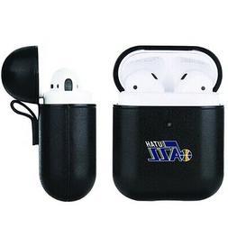 Utah Jazz NBA Fan Brander Black Leather AirPod Case
