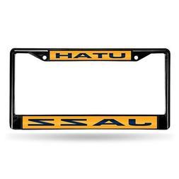 Utah Jazz NBA Black Metal Laser Cut License Plate Frame