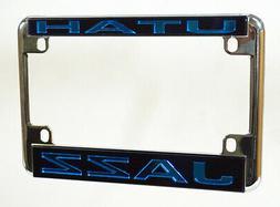 Utah Jazz NBA Chrome Motorcycle RV License Plate Frame