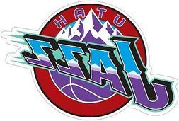Utah Jazz Round  Decal Sticker Die cut