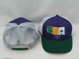 Utah Jazz Adidas NBA Team Colors Mesh Back Youth Trucker Hat