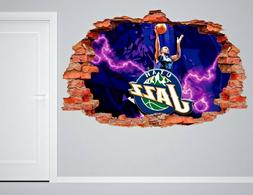 Utah Jazz NBA Wall Decal Living Room Or Room 3D Wall Paper S