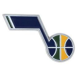 Utah Jazz Premium Solid Metal COLOR Chrome Auto Emblem Raise