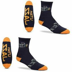 Utah Jazz For Bare Feet Quarter-Length Socks Two-Pack Set