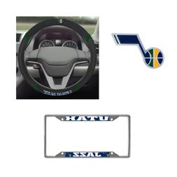 Utah Jazz Steering Wheel Cover, License Plate Frame, 3D Colo