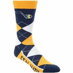 Utah Jazz For Bare Feet Team Argyle Crew Socks