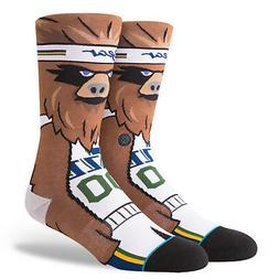 Utah Jazz The Bear Mascot Stance NBA Socks Large Men's 9-12