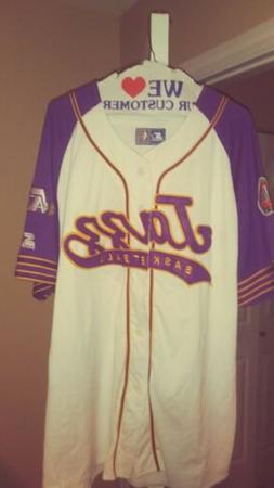 Vintage Utah Jazz Throwback Script Baseball Starter Jersey X