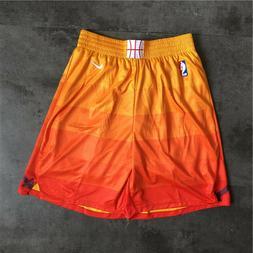 Utah Jazz Vintage Basketball Game Shorts NBA Men's NWT Stitc