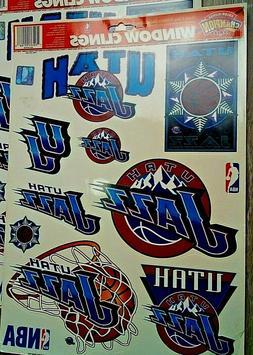 Utah Jazz Window Decal Clings,Removable NBA Licensed Footbal