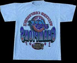 Vintage 1997 Utah Jazz champions shirt Reprint Gidlan White