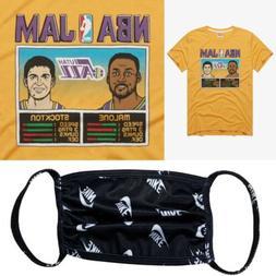 Vintage NBA Jam Utah Jazz T-shirt + Nike Dri-Fit New Era Mas